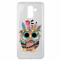 Чохол для Samsung J8 2018 Little owl with feathers