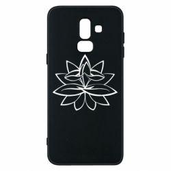 Чохол для Samsung J8 2018 Lotus yoga