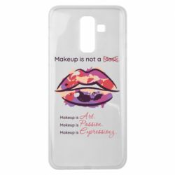 Чехол для Samsung J8 2018 Make Up Is Not A Mask Lips