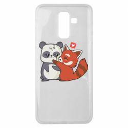 Чохол для Samsung J8 2018 Panda and fire panda