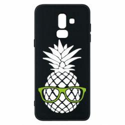 Чехол для Samsung J8 2018 Pineapple with glasses