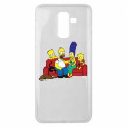 Чехол для Samsung J8 2018 Simpsons At Home