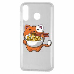 Чохол для Samsung M30 Cat and Ramen