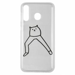 Чохол для Samsung M30 Cat in pants