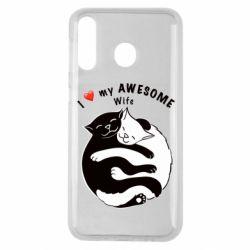 Чехол для Samsung M30 Cats with a smile