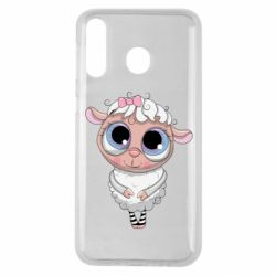 Чехол для Samsung M30 Cute lamb with big eyes
