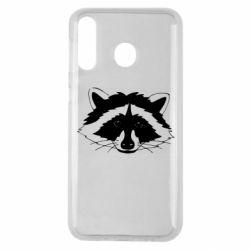 Чохол для Samsung M30 Cute raccoon face