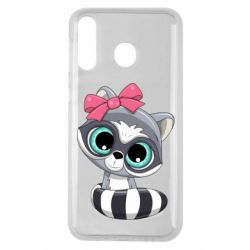 Чехол для Samsung M30 Cute raccoon