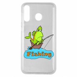 Чехол для Samsung M30 Fish Fishing