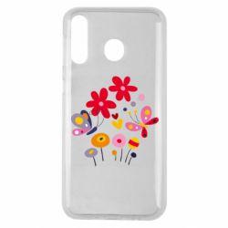 Чехол для Samsung M30 Flowers and Butterflies