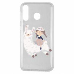 Чохол для Samsung M30 Girl with a lama
