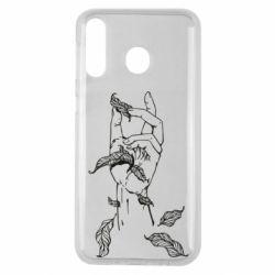 Чохол для Samsung M30 Hand with leafs