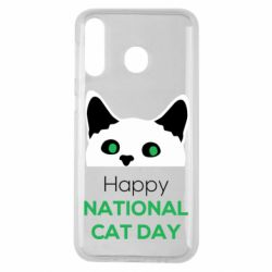 Чехол для Samsung M30 Happy National Cat Day