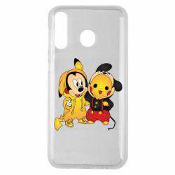 Чехол для Samsung M30 Mickey and Pikachu