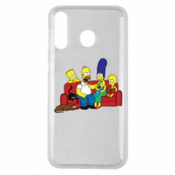 Чехол для Samsung M30 Simpsons At Home