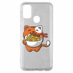 Чохол для Samsung M30s Cat and Ramen