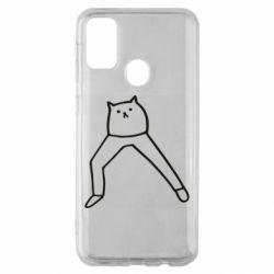 Чохол для Samsung M30s Cat in pants