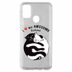 Чехол для Samsung M30s Cats and love