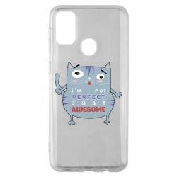 Чехол для Samsung M30s Cute cat and text