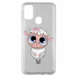 Чехол для Samsung M30s Cute lamb with big eyes