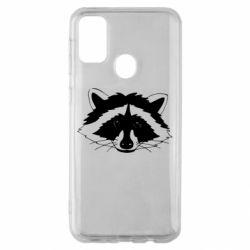 Чохол для Samsung M30s Cute raccoon face
