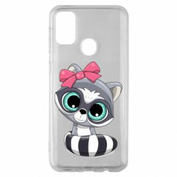 Чехол для Samsung M30s Cute raccoon