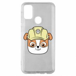 Чохол для Samsung M30s Dog in helmet