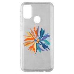 Чохол для Samsung M30s Flower coat of arms of Ukraine