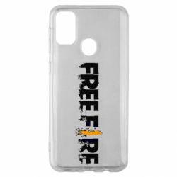 Чехол для Samsung M30s Free Fire spray