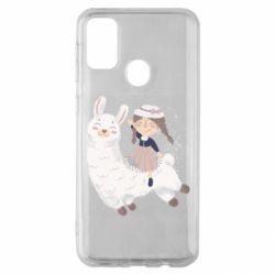 Чохол для Samsung M30s Girl with a lama