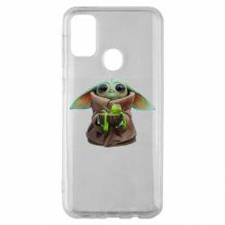 Чохол для Samsung M30s Grogu and Kermit