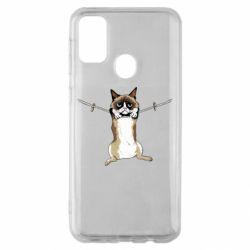 Чехол для Samsung M30s Grumpy Cat On The Rope