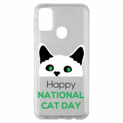 Чехол для Samsung M30s Happy National Cat Day