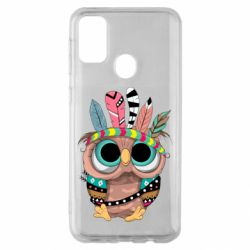 Чохол для Samsung M30s Little owl with feathers