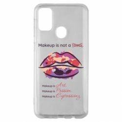 Чехол для Samsung M30s Make Up Is Not A Mask Lips