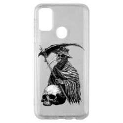 Чехол для Samsung M30s Plague Doctor graphic arts