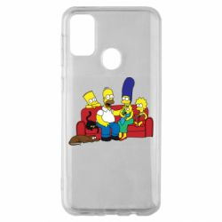 Чехол для Samsung M30s Simpsons At Home