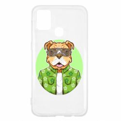 Чохол для Samsung M31 A dog with glasses and a shirt