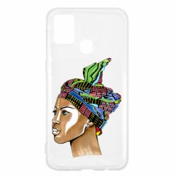 Чохол для Samsung M31 African girl in a color scarf