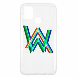 Чехол для Samsung M31 Alan Walker multicolored logo