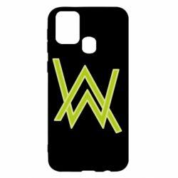 Чехол для Samsung M31 Alan Walker neon logo