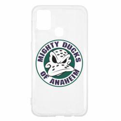 Чехол для Samsung M31 Anaheim Mighty Ducks Logo