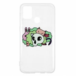 Чехол для Samsung M31 Animals and skull in the bushes