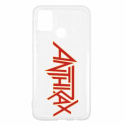 Чохол для Samsung M31 Anthrax red logo