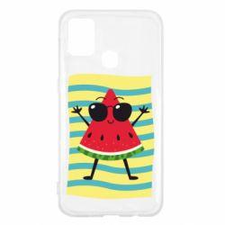Чехол для Samsung M31 Арбуз на пляже