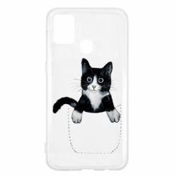 Чехол для Samsung M31 Art cat in your pocket