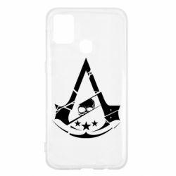 Чехол для Samsung M31 Assassin's Creed and skull 1