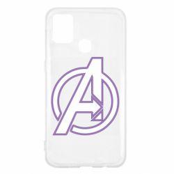 Чехол для Samsung M31 Avengers and simple logo
