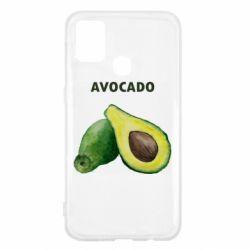 Чехол для Samsung M31 Avocado watercolor