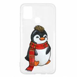 Чохол для Samsung M31 Baby penguin with a scarf